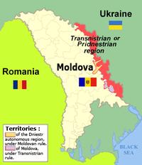 La disposizione della Transnistria