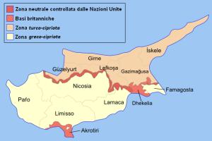 Confine turco-cipriota sull'isola di Cipro
