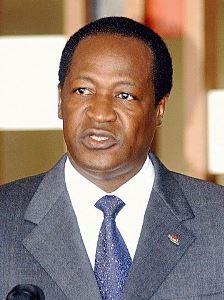 L'ormai ex presidente del Burkina Faso Blaise Compaoré