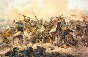 Defending_the_Polish_banner_at_Chocim,_by_Juliusz_Kossak,_1892