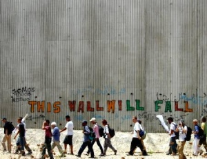 Muro divisorio israelo-palestinese.