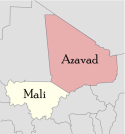 La regione tuareg dell'Azawad. Foto da Wikipedia