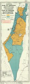 I confini dopo la risoluzione 181 delle Nazioni Unite. Immagine da ilPost.it