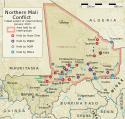 Le operazioni nel nord del Mali e le forze in campo. Foto da Wikipedia