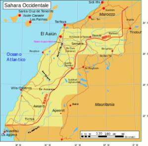 Il Sahara occidentale. Foto da Wikipedia