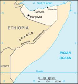 """Il Somaliland, """"la terra dei Somali"""", al confine tra Somalia e Djibuti.  Foto presa da Wikipedia"""