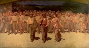 """""""Il quarto stato"""" o """"Il cammino dei lavoratori"""" di Giuseppe Pellizza da Volpedo,1901"""
