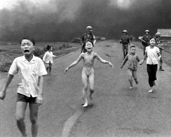 Foto di Kim Puk. Guerra del Vietnam