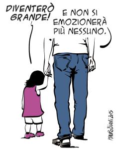 """Di Mauro Biani, pubblicata sulla pagina facebook de """"Il Manifesto"""" e sulla pagina dell'autore"""
