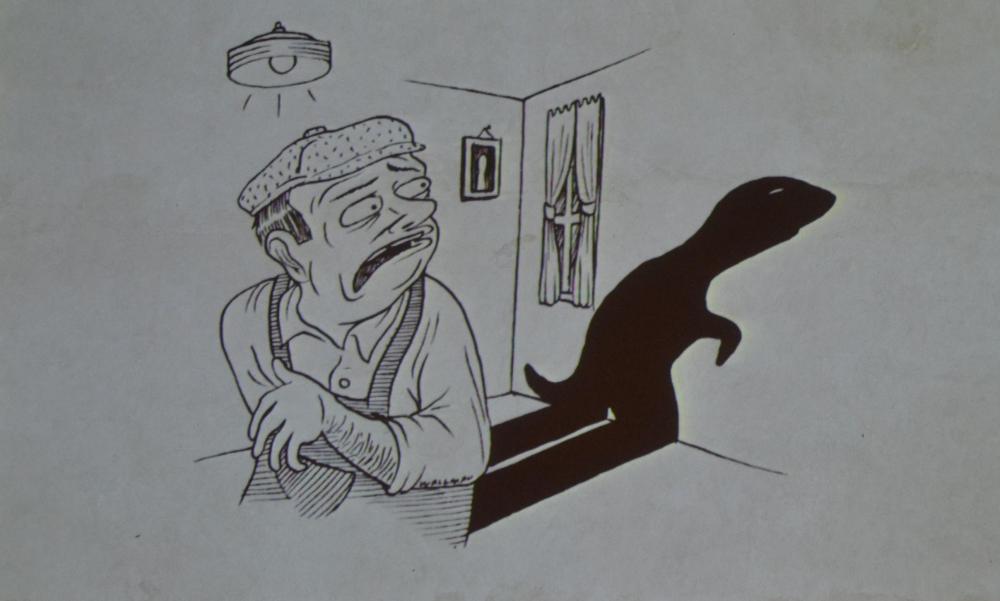 Il Bunyp oggi. Foto scattata durante l'incontro di Ferrara. Disegni di Sam Walmann