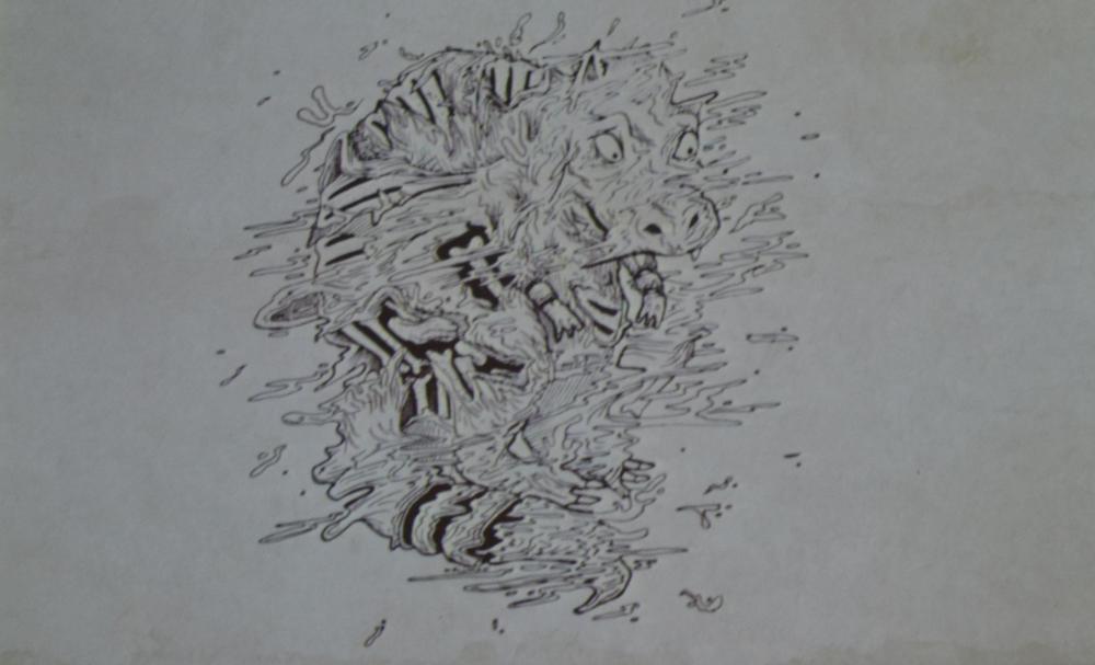 Il Bunyp. Foto scattata durante l'incontro di Ferrara. Disegni di Sam Walmann