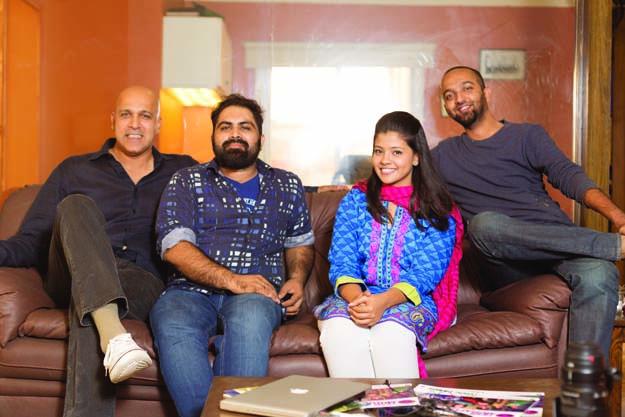 Gli ideatori. Da sinistra a destra: Imran Azhar, Zain Awan, Rabiya Waheed and Babrus Khan ©Arif Soomro