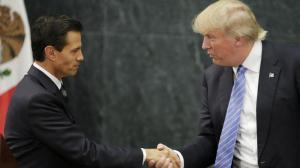 L'incontro tra Trump e Neto mercoledì 31 agosto ©Reuters
