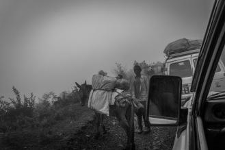 03-Per raggiungere i villaggi servono le jeep. Lungo la strada si possono incontrare viaggiatori con animali da soma