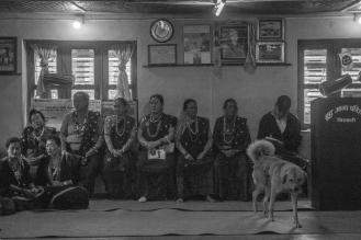 07-Nella casa del consiglio di Sirubari i cani hanno facile accesso