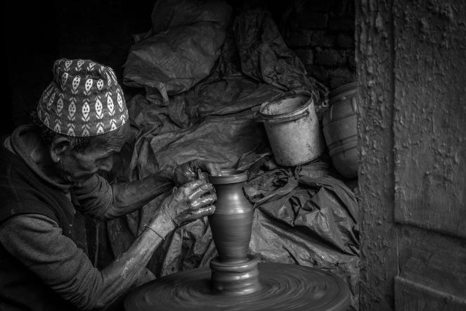Vasaio a Bhaktapur